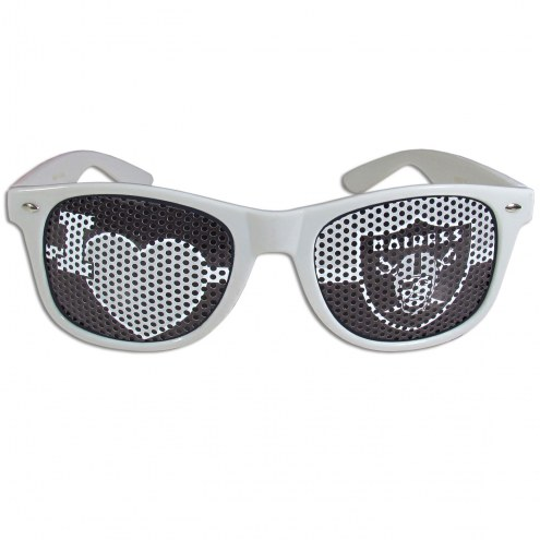 Las Vegas Raiders White I Heart Game Day Shades