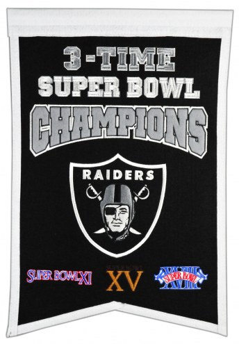 Oakland Raiders Champs Banner