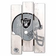Oakland Raiders Wood Fence Sign