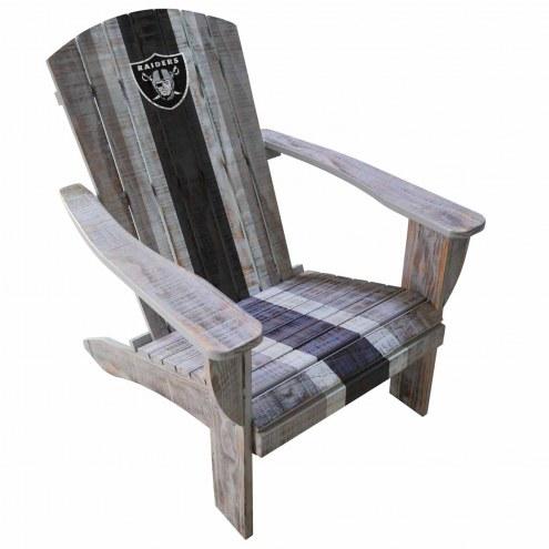 Las Vegas Raiders Wooden Adirondack Chair