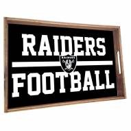 Oakland Raiders Wooden Serving Tray