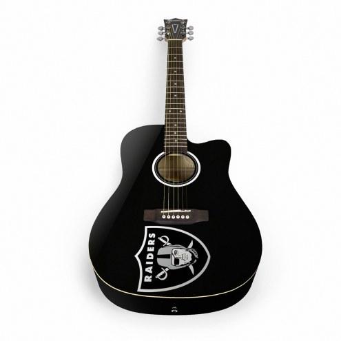 Oakland Raiders Woodrow Acoustic Guitar