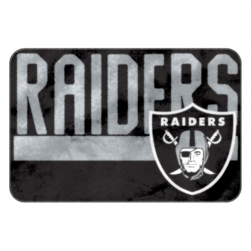 Oakland Raiders Worn Out Bath Mat