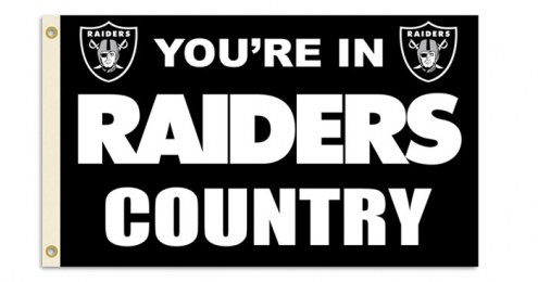 "Oakland Raiders ""You're In Raiders Country"" Flag"