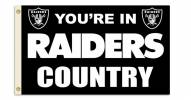 """Oakland Raiders """"You're In Raiders Country"""" Flag"""