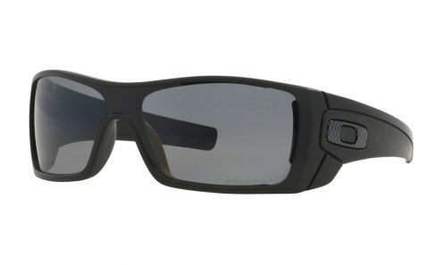 Oakley Batwolf Rectangular Sunglasses - Matte Black / Grey Polarized