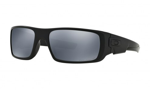 Oakley Crankshaft Sunglasses - Matte Black / Black Iridium Polarized