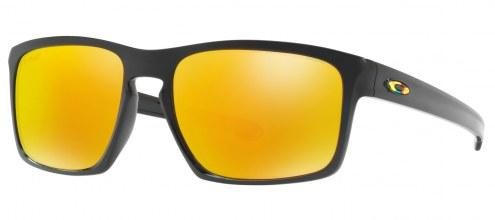 Oakley Silver VR46 Sunglasses - Polished Black / Fire Iridium