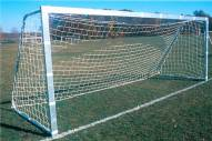 Official Unpainted 6.5' x 18' Soccer Goal with Square Posts by Goal Sporting Goods - Pair