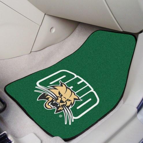 Ohio Bobcats 2-Piece Carpet Car Mats