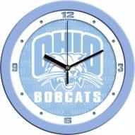 Ohio Bobcats Baby Blue Wall Clock