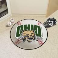Ohio Bobcats Baseball Rug