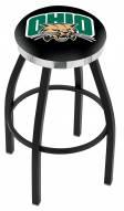 Ohio Bobcats Black Swivel Barstool with Chrome Accent Ring