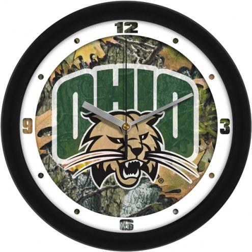 Ohio Bobcats Camo Wall Clock