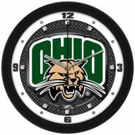 Ohio Bobcats Carbon Fiber Wall Clock