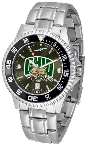 Ohio Bobcats Competitor Steel AnoChrome Color Bezel Men's Watch