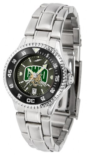 Ohio Bobcats Competitor Steel AnoChrome Women's Watch - Color Bezel