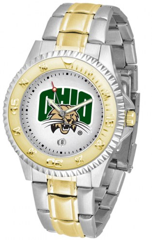 Ohio Bobcats Competitor Two-Tone Men's Watch