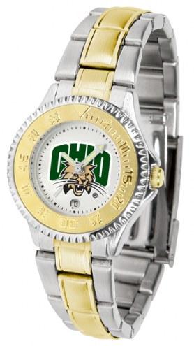 Ohio Bobcats Competitor Two-Tone Women's Watch