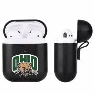 Ohio Bobcats Fan Brander Apple Air Pods Leather Case