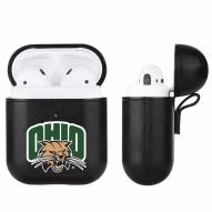 Ohio Bobcats Fan Brander Apple Air Pods Leather Case