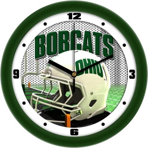 Ohio Bobcats Football Helmet Wall Clock