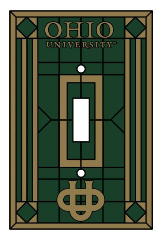 Ohio Bobcats Glass Single Light Switch Plate Cover