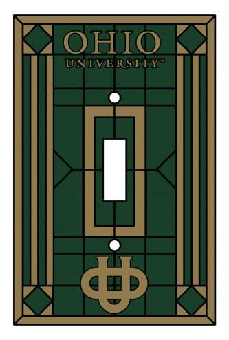 Ohio Bobcats Glass Single Light Switch Plate Cover