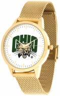 Ohio Bobcats Gold Mesh Statement Watch