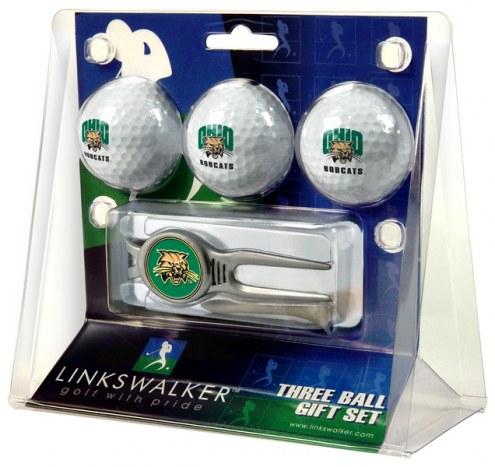 Ohio Bobcats Golf Ball Gift Pack with Kool Tool