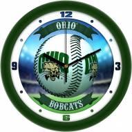 Ohio Bobcats Home Run Wall Clock