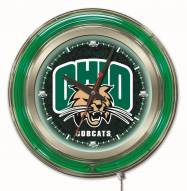 Ohio Bobcats Neon Clock