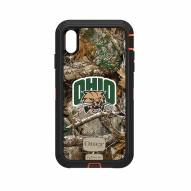 Ohio Bobcats OtterBox iPhone XS Max Defender Realtree Camo Case