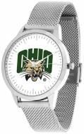 Ohio Bobcats Silver Mesh Statement Watch