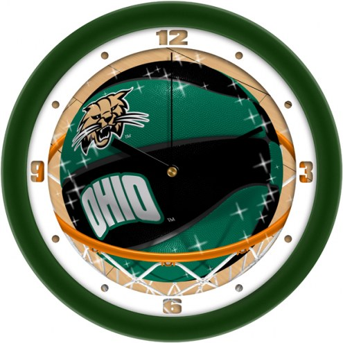 Ohio Bobcats Slam Dunk Wall Clock