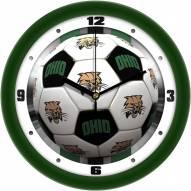 Ohio Bobcats Soccer Wall Clock