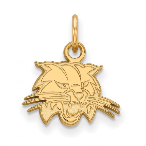 Ohio Bobcats Sterling Silver Gold Plated Extra Small Pendant