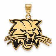 Ohio Bobcats Sterling Silver Gold Plated Large Enameled Pendant