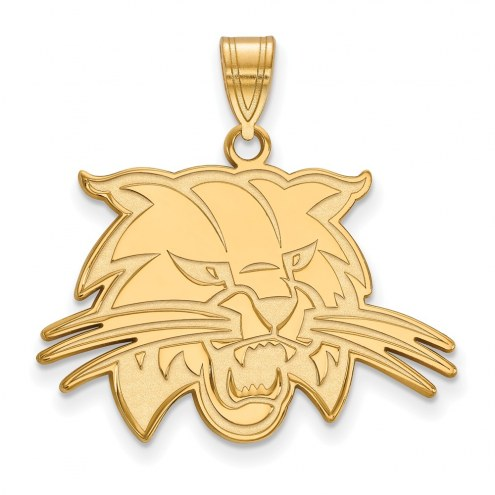 Ohio Bobcats Sterling Silver Gold Plated Large Pendant