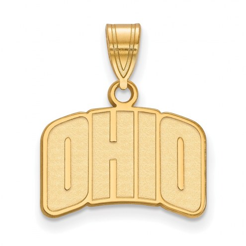 Ohio Bobcats Sterling Silver Gold Plated Small Pendant