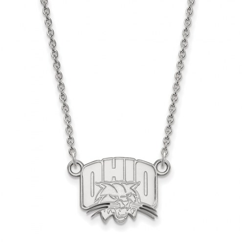 Ohio Bobcats Sterling Silver Small Pendant Necklace