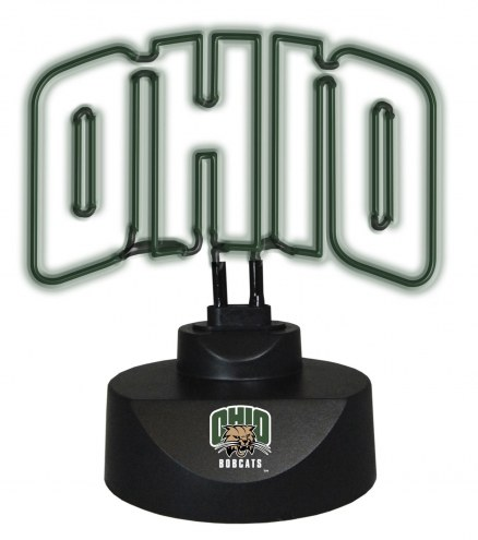 Ohio Bobcats Team Logo Neon Lamp