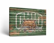 Ohio Bobcats Weathered Canvas Wall Art