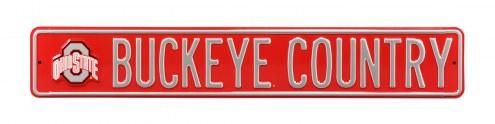 Ohio State 'Buckeye Nation' NCAA Embossed Street Sign