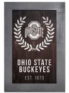 "Ohio State Buckeyes 11"" x 19"" Laurel Wreath Framed Sign"