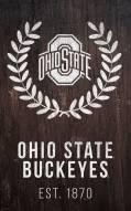 "Ohio State Buckeyes 11"" x 19"" Laurel Wreath Sign"