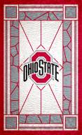 """Ohio State Buckeyes 11"""" x 19"""" Stained Glass Sign"""