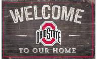 """Ohio State Buckeyes 11"""" x 19"""" Welcome to Our Home Sign"""