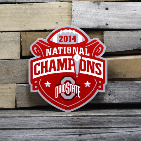 "Ohio State Buckeyes 12"" 2014 Champs Steel Logo Sign"