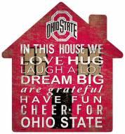 "Ohio State Buckeyes 12"" House Sign"
